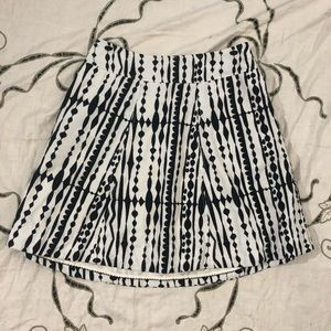Anthropologie Postmark black and white skirt